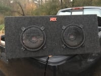 Rockford Fosgate punch 200 a4 amp withMtx road thunder speakers in box Abington, 02351