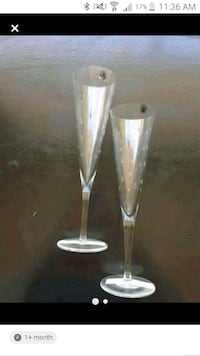 Two beautiful new champagne glasses  Zephyr, L0E 1T0