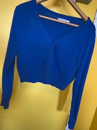 OLD NAVY CROPPED BLUE CARDIGAN  Toronto, M6P 2T3