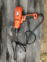 Black & Decker Corded Drill with bag