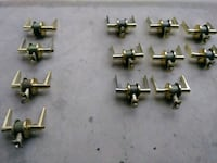 Gold plated door knobs 4 with locks and 8 without. Albuquerque, 87122