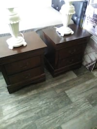 Brown wooden 2-drawer nightstand call if interested #( [TL_HIDDEN]  Orlando, 32839