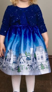 Barely used Girl's/Todler party dress 2 pc. Size 3T, Pippa&Julie Navy Arlington, 22202