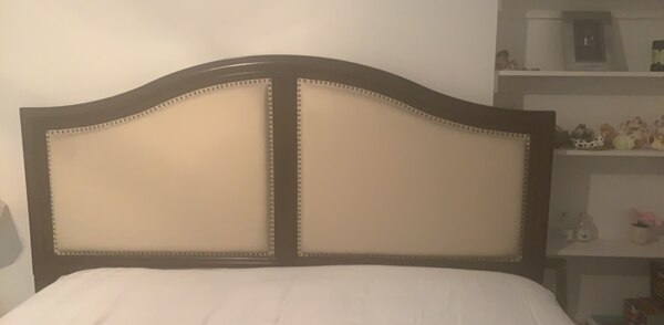 Wood and fabric Headboard for sale