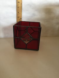 Stained glass candle holder decor  London, N6B