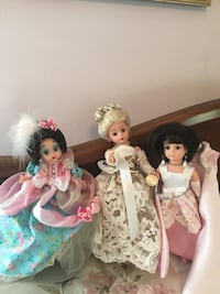 three assorted dolls in dresses Social Circle, 30025
