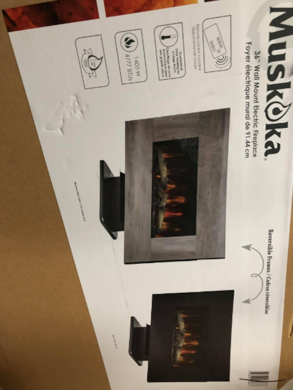Fine New 36 Muskoka Fireplace In Box With Reversible Frame Download Free Architecture Designs Scobabritishbridgeorg