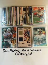Dan Marino Pittsburgh Panthers Miami Dolphins Hall of Fame QB (18) Card Lot. Set 3 San Jose, 95148