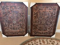 two brown wooden wall decors Leesburg