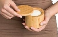 Bamboo Salt Box With Magnetic Swivel Lid/Firm Price Calgary, T3E 6L9