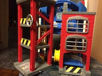 Toy fire station with moving parts. Barely used by my grandson.  Markham, L3P 6V8