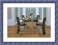 Counter height glass dining table 4 chairs Falls Church, 22041