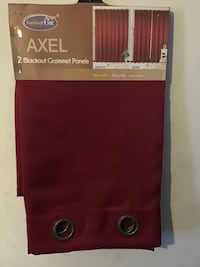 Curtains Red Axel 2 Blackout Grommet Panels Victorville, 92395