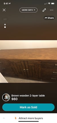 brown wooden cabinet with drawer La Fayette, 30728