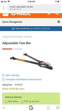 Adjustable tow bar brand new in box Surrey, V3W 3G9