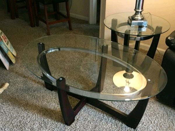 Havertys Glass Coffee Table W 2 End Tables