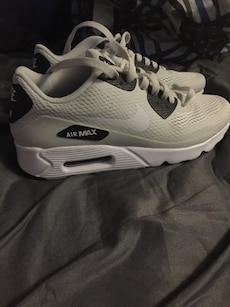 white-and-black Nike Air Max