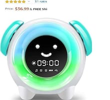 Alarm Clock for Kids with 7 Colors, Night Light, 6 Alarms, NEW 1/2 OFF