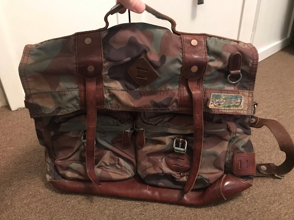 7905dae396 Used Vintage Ralph Lauren Men s Army Camo Messenger Bag for sale in ...