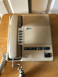 AT&T Phone/Microcassette Answering Machine System Model #1504, off white/cream 1980's Baltimore, 21236
