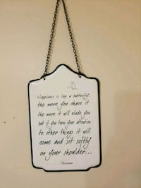 Hanging metal quote by Thoreau  Bloomsbury
