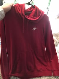 red Nike pullover jacket