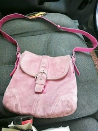 Coach Cross body /pink suede/needs to be cleane Amarillo, 79108