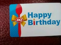 Dairy Queen Giftcard Silver Spring