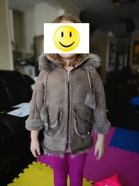 Toddler Girl Leather Fur Coat - 3 yr old Richmond Hill