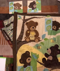 Nursery bedding and pictures (bed skirt and crib sheet with comforter) Gainesville, 20155