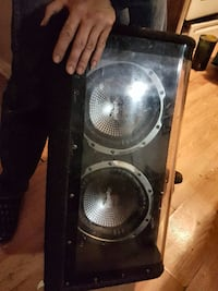 subwoofer amp and two 10 inch speakers