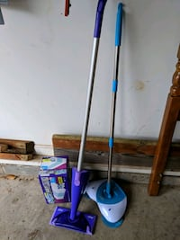 Swiffer wet jet with extra pads & a rolling broom. Augusta