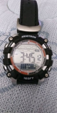 nice armitron watch digital many functions new leather band