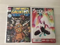 Marvel comics - The Infinity Gauntlet and Spider Gwen Calgary, T2E 3W8