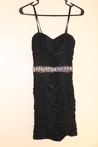 ANGL BLACK BEDAZZLED RHINESTONE DRESS EVENING GOWN! Los Angeles, 91316