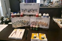 3 warhammer sets with paint and painting accessori Laval, H7N 1W3