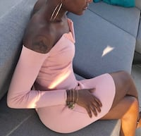 Missguided Blush Pink Bardot Dress Baltimore, 21229