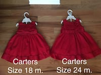 NWOT Girls Carters Dresses (18 and 24 months) Martinsburg, 25404