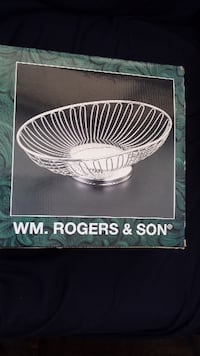 BRAND NEW ROGERS SILVER-PLATED WIRE BASKET  Toronto