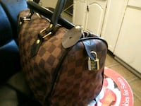 brown and black Louis Vuitton Monogram leather handbag London, N6B 1E2