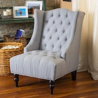 LIGHT GREY ACCENT CHAIRS