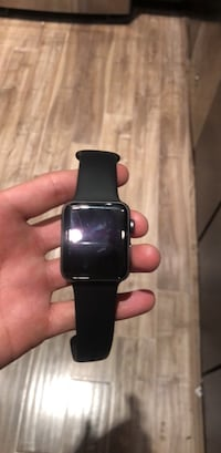 black Apple Watch with black sports band Sterling, 20166