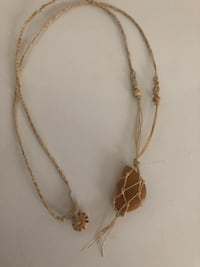 brown stone wired wrap pendant necklace 736 mi