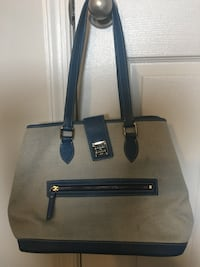 black and gray leather tote bag Alexandria, 22306