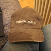New Kendrick Lamar Untitled Unmastered Grey White Hat Cap Dad Strapback TDE Top Dawg Entertainment LONDON