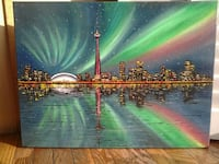 24x18 inches Toronto skyline oil painting