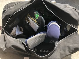 Ball hockey equipment and bags