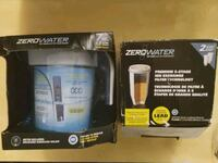 New Zero Water Filter Pitcher & 2 Replacement Filters