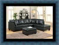 Black sectional with ottoman UNIVERSITY PA, 20782