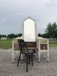 Antique Solid Wood Vanity and Chair Piedmont, 73078